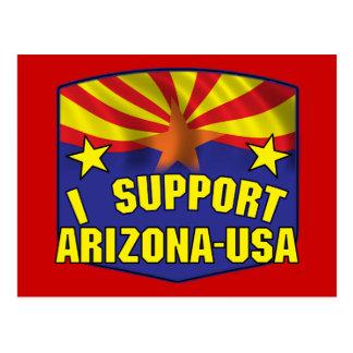 I Support Arizona USA Postcard