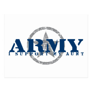 I Support Aunt - ARMY Postcard