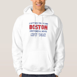 I support Boston funny Baseball Hoodie