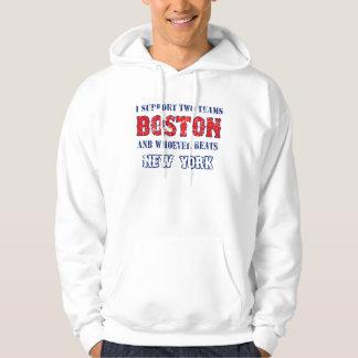 I support Boston funny Baseball Hoodie