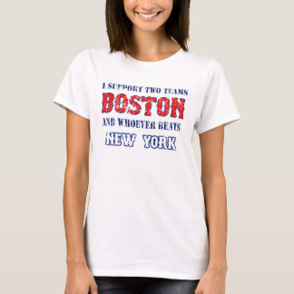 I support Boston funny Baseball Women's Soft Tee