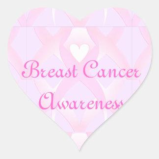 I Support,Breast Cancer Awareness_ Heart Sticker