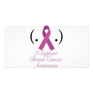 i support breast cancer awareness photo card
