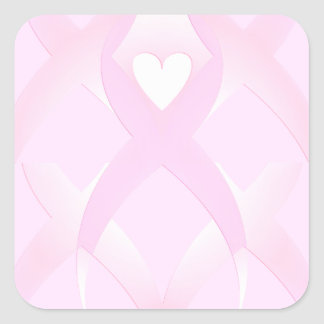 I Support,Breast Cancer Awareness_ Square Sticker