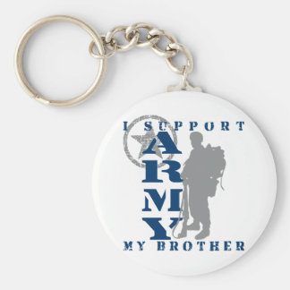 I Support Brother 2 - ARMY Basic Round Button Keychain