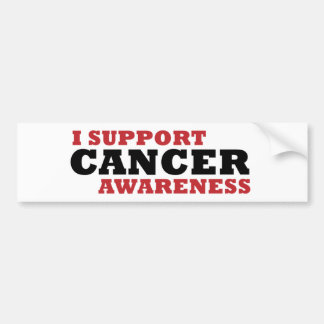 I Support Cancer Awareness Bumper Sticker