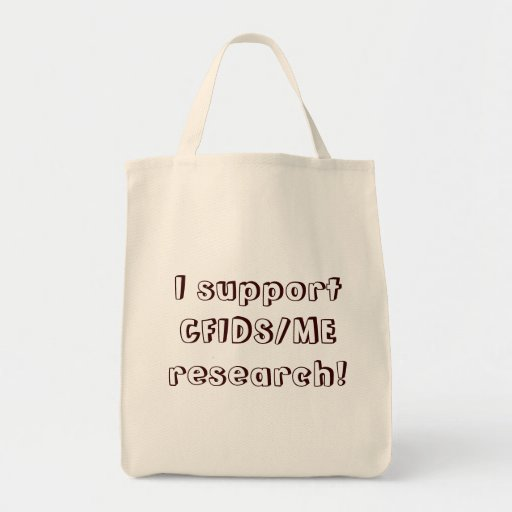 I support CFIDS/ME research! Canvas Bags