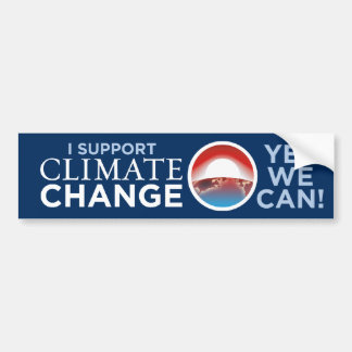 I Support Climate Change-Obama-like Bumper Sticker