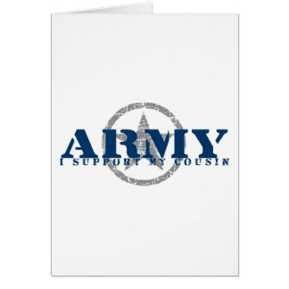 I Support Cousin - ARMY Card