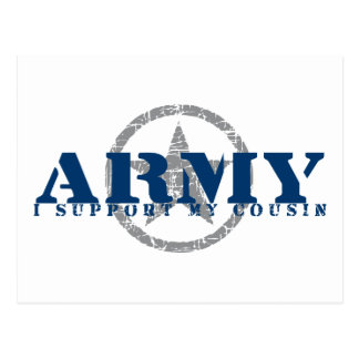 I Support Cousin - ARMY Postcard