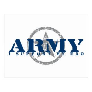 I Support Dad- ARMY Postcard
