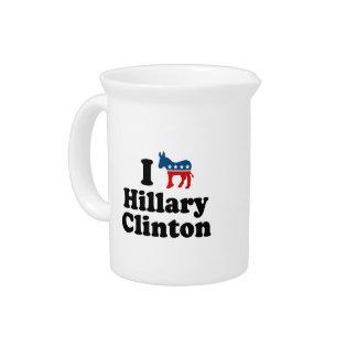 I SUPPORT DEMOCRAT HILLARY CLINTON PITCHER