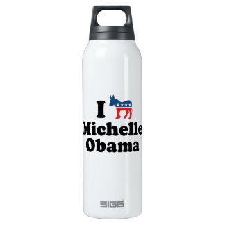 I SUPPORT DEMOCRAT MICHELLE OBAMA -.png 16 Oz Insulated SIGG Thermos Water Bottle