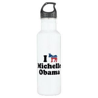 I SUPPORT DEMOCRAT MICHELLE OBAMA -.png 24oz Water Bottle