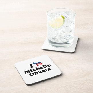I SUPPORT DEMOCRAT MICHELLE OBAMA -.png Drink Coaster