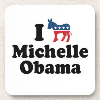I SUPPORT DEMOCRAT MICHELLE OBAMA -.png Drink Coasters
