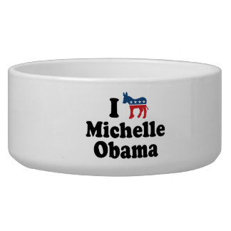 I SUPPORT DEMOCRAT MICHELLE OBAMA -.png Pet Water Bowl