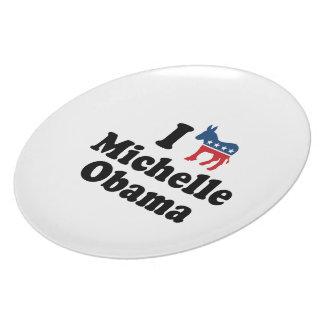 I SUPPORT DEMOCRAT MICHELLE OBAMA -.png Plate
