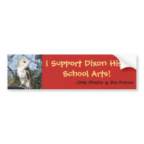 I Support Dixon High School Arts (Owl) Bumper Sticker