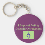 I Support Eating Disorder Awareness Keychain
