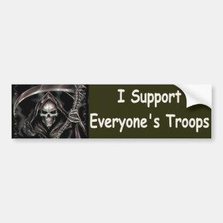 I support everyones troops car bumper sticker