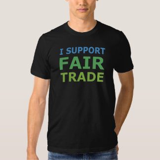 I Support Fair Trade Basic American Apparel Tee