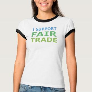 I Support Fair Trade Ladies Ringer T-Shirt
