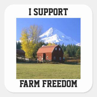 I Support Farm Freedom Square Sticker