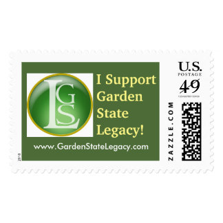 """""""I Support Garden State Legacy"""" Postage Stamps!"""
