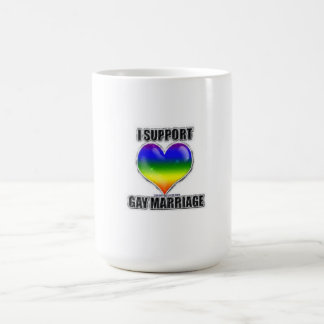 I support gay marriage coffee cup