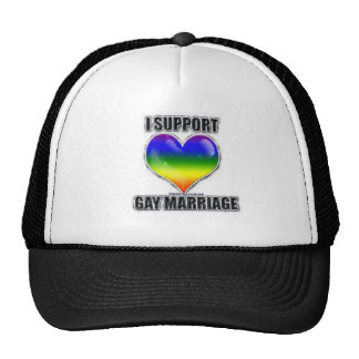 I support gay marriage trucker hat