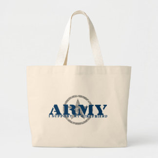 I Support Girlfriend - ARMY Bags