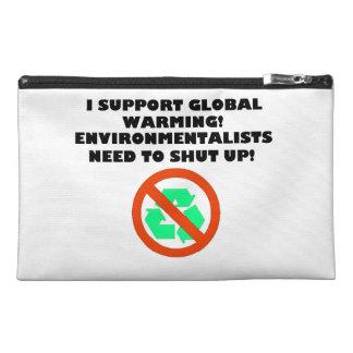 I Support Global Warming Zippered Bag