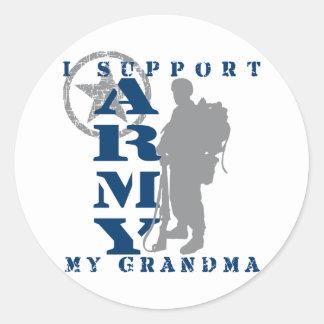 I Support Grandma 2 - ARMY Classic Round Sticker