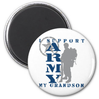 I Support Grandson 2 - ARMY 2 Inch Round Magnet
