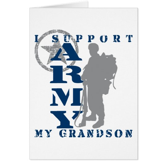 I Support Grandson 2 - ARMY Card