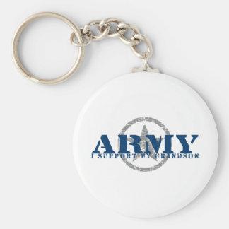 I Support Grandson - ARMY Keychain