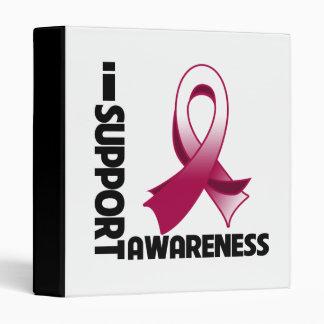 I Support Head & Neck Cancer Awareness Vinyl Binders