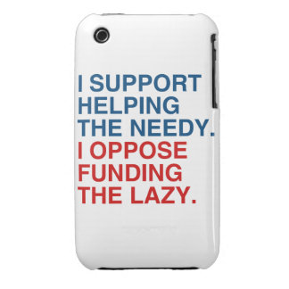I SUPPORT HELPING THE NEEDY Case-Mate iPhone 3 CASES