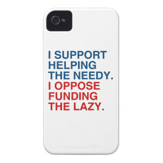 I SUPPORT HELPING THE NEEDY.png iPhone 4 Cover