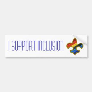 I support inclusion bumpersticker bumper sticker
