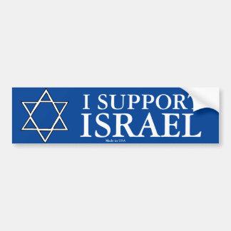 I Support Israel Bumper Stiker Bumper Sticker