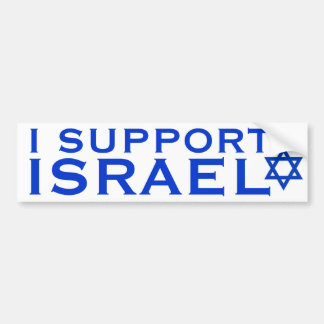 I Support Israel Car Bumper Sticker