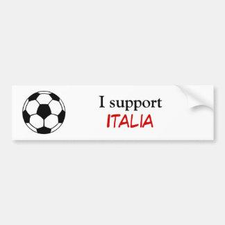 I support Italia Car Bumper Sticker