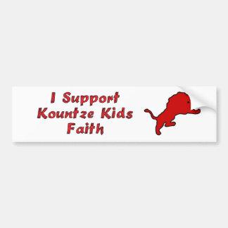 I Support Kountze Kids Faith Bumper Sticker
