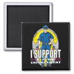 I Support Law Enforcement 2 Inch Square Magnet