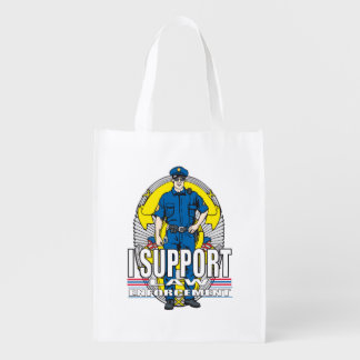 I Support Law Enforcement Grocery Bags