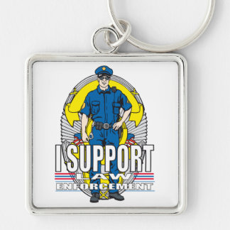 I Support Law Enforcement Keychain