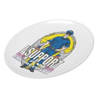 I Support Law Enforcement Melamine Plate