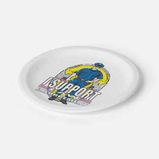 I Support Law Enforcement Paper Plate